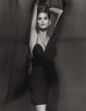 Cindy Crawford - Versace, El Mirage (k), 1990, 14 x 11 Inches, Silver Gelatin Photograph, Edition of 2