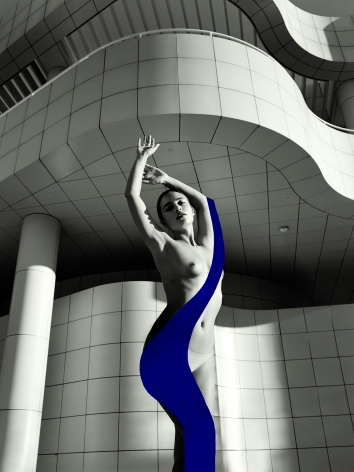 Lera 1, Getty Museum, 2020, Painted Silver Gelatin Photograph