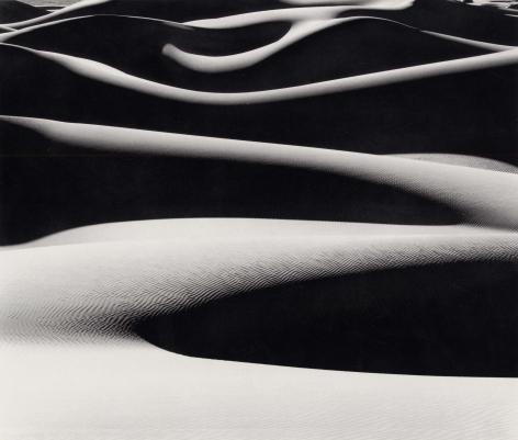 Dune Ridges at Sunrise, 1976, 22 x 28 Inches, Silver Gelatin Photograph