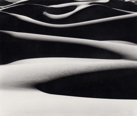 Dune Ridges at Sunrise, 1976, 22 x 28 Inches, Silver Gelatin Photograph