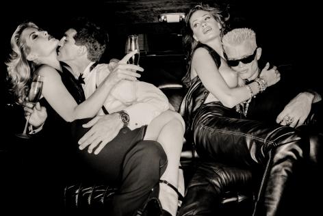 Kim Snowden, Eric Roberts, Elizabeth Nottoli, & Billy Idol, German Vogue, Los Angeles, 1994, Archival Pigment Print