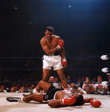Muhammad Ali Knocks Out Sonny Liston, Lewiston, Maine, May, 1965, 11 x 14 Color Photograph, Ed. 350