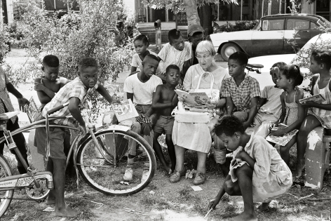 Woman Reading to Children, Freedom Summer, 1964, 16 x 20Inches, Silver Gelatin Photograph, Edition of 25