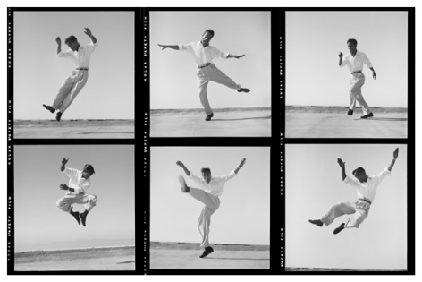 Sammy Davis Jr. Dancing on a Hollywood Rooftop, (Contact Strip), 1947