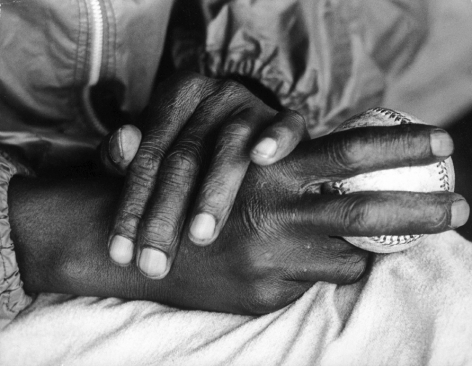 Satchel Paige Hands,1962, Silver Gelatin Photograph