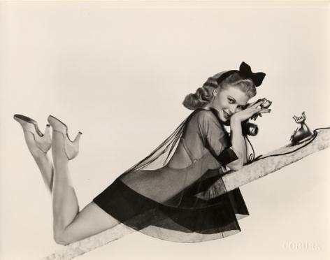 "Joan Caulfield, ""Pretty Girl,"" 1950, 8 x 10 Vintage Silver Gelatin Photograph"