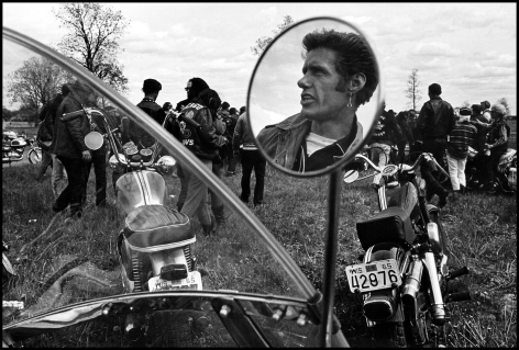 Copyright Danny Lyon / Magnum Photos, Cal, Elkhorn, Wisconsin, from The Bikeriders, 1966
