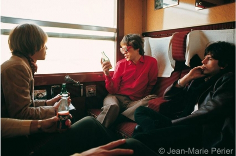 The Rolling Stones in the train from Marseilles, July 1965, C-Print