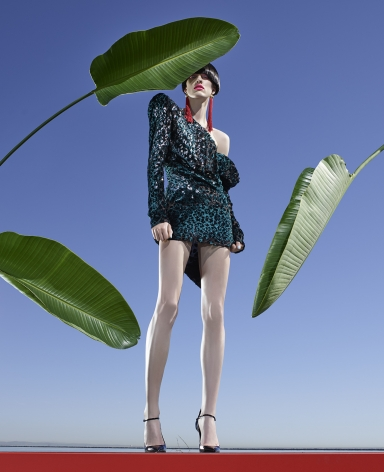 Fashion (with Banana Leaves), Los Angeles, 2016, 40 x 32 1/2 Inches, Archival Pigment Print, Edition of 5