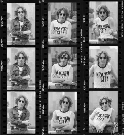 John Lennon Proof Sheet, New York City, 1974