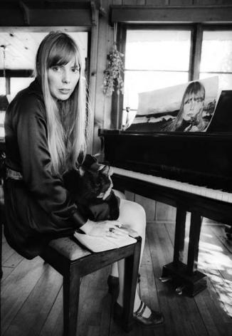 Joni Mitchell, 1967, Silver Gelatin Photograph