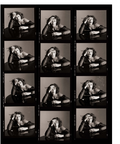 Kelly LeBrock as Sloth (Proof Sheet) - The Seven Deadly Sins, Series, Los Angeles, 1985, Archival Pigment Print