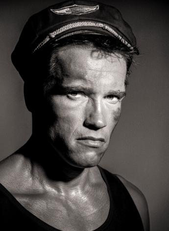 Arnold Schwarzenegger, Beverly Hills, 1985, Archival Pigment Print