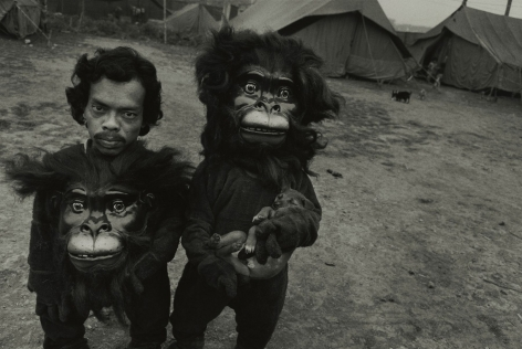 TwinBrothers Tulsi and Basant, Great Famous Circus, Calcutta, India,1989, Silver Gelatin Photograph