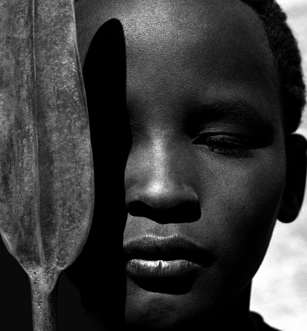 Loriki with Spear, Africa, 1993, 20 x 16 Inches, Silver Gelatin Photograph, Edition of 25