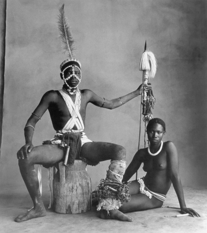 Seated Warrior, Sitting Girl, Cameroon, 1969, Silver Gelatin Photograph, Ed. of 10