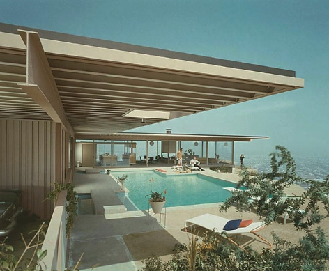 Case Study House #22, Pierre Koenig, Los Angeles, California, Color, Alternate View, 1960