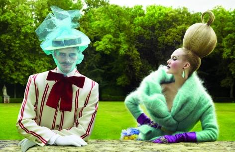 Untitled III, Joan Pedrola and Vanessa Lorenzo in Dries van Noten and Christian Dior, Yo Donna, 2010