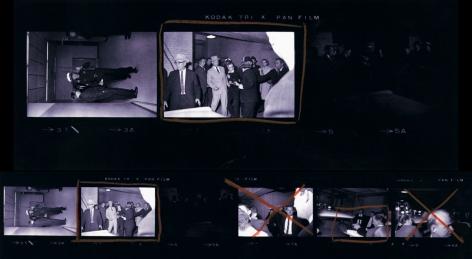Robert Jackson The Murder of Lee Harvey Oswald (Contact Sheet), 3 Frames, 1963