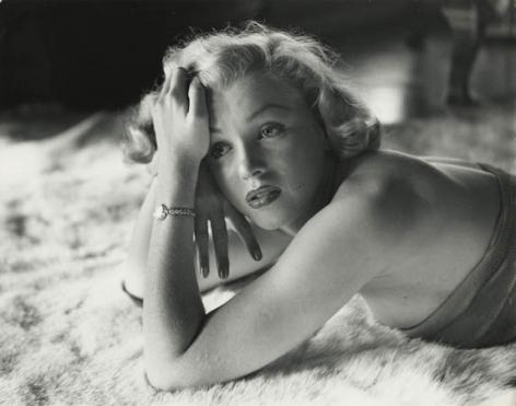 Marilyn Monroe (on Fur Rug), 1952, 11 x 14 RC Photograph