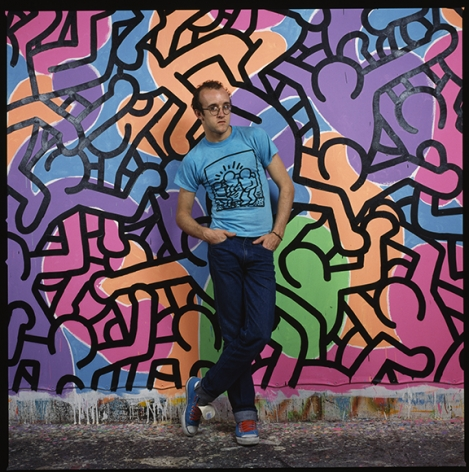 Keith Haring Standing in front of Painting #2, NYC, 1985, 20 x 16inches - Archival Pigment Print - Edition of 50