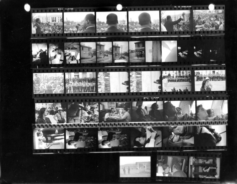 Stephen Somerstein Dr. Martin Luther King, Jr. speaking to 25,000 civil rights marchers at end of Selma to Montgomery, Alabama march, March 25 (Contact Sheet), 1965