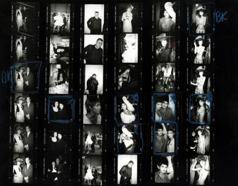 Roxanne Lowit Kate Moss at Vivienne Westwood (Contact Sheet), 1993
