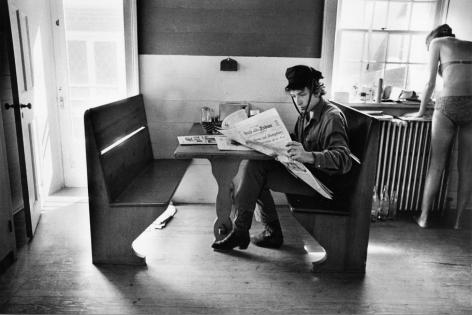 Bob Dylan Reading The Herald Tribune, 1964, Silver Gelatin Photograph