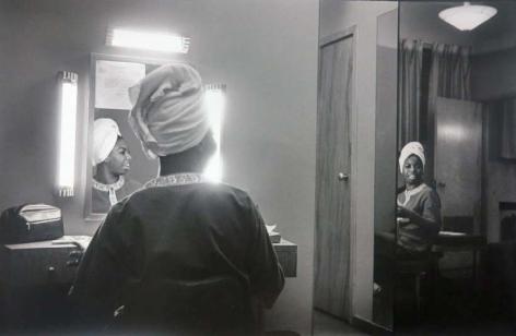 Nina Simone in Dressing Room (Variant), Dennis, MA, Silver Gelatin Photograph