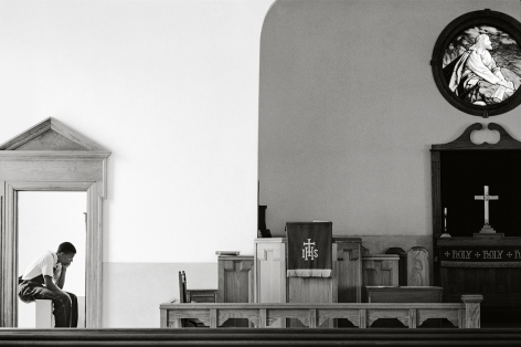 Jerome Smith at Church, 1965, 16 x 20Inches, Silver Gelatin Photograph, Edition of 25