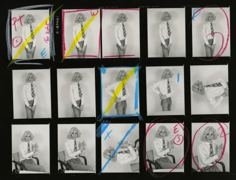 Christopher Makos Lady Warhol, Altered Images (Contact Sheet), 1981