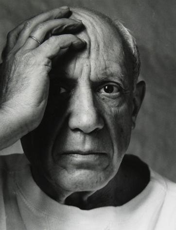 Pablo Picasso, Vallouris, France, 1954, Silver Gelatin Photograph