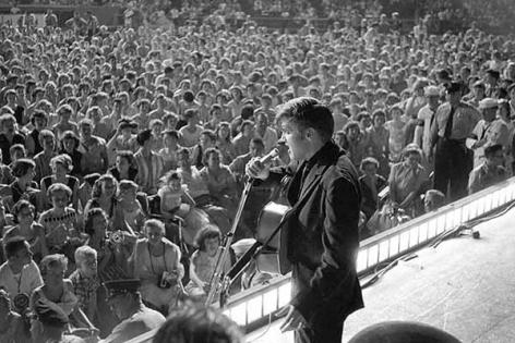 Elvis Presley Performs at Russwood Park, 1956