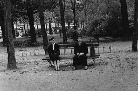 Young Man and Woman, Paris, 1952, Silver Gelatin Photograph