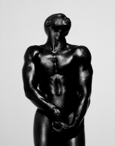 Djimon Three Quarter Nude, Hollywood, 1989, 24 x 20 Inches, Platinum Photograph, Edition of 25