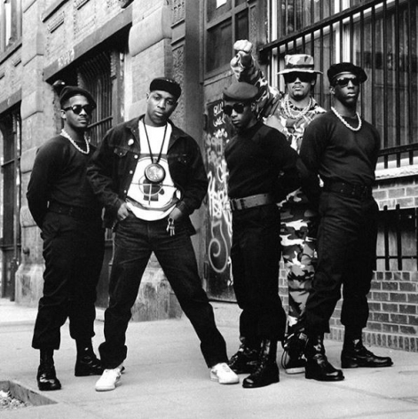 Public Enemy (without Flava Flav), outside Def Jam offices, NY, 1988, 20 x 16 inches - Archival Pigment Print - Edition of 50