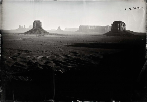 How the West Was Won, Monument Valley, 2014, Unique Collodion Wet Plate