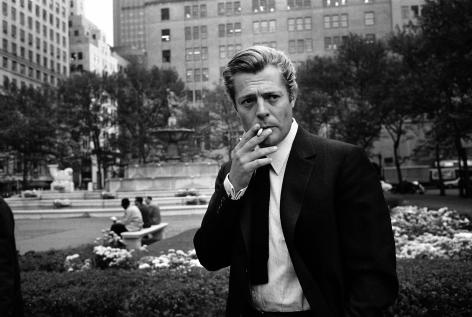 Marcello Mastroianni, Central Park, NY, 1962, Silver Gelatin Photograph
