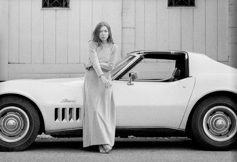 Julian Wasser Joan Didion at Home in Hollywood, Time Magazine, 1968