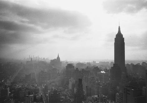 Manhattan Looking South, 1954, Silver Gelatin Photograph