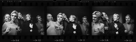 Andy Warhol, Edie Sedgwick and Entourage, New York (Triptych), 1965, Silver Gelatin Photograph