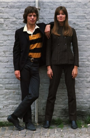 Françoise Hardy and Mick Jagger, London, July 1965, C-Print