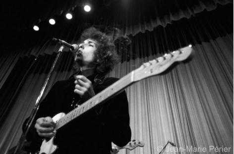 Bob Dylan on stage, England, June 1966, C-Print