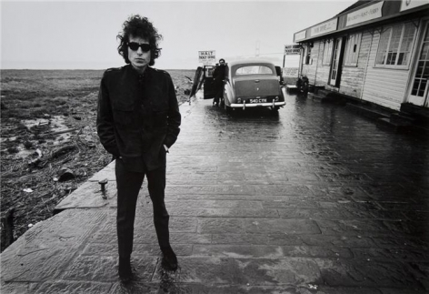 Bob Dylan (At The Aust-Ferry), Aust, England, 1966, 11 x 14 Silver Gelatin Photograph