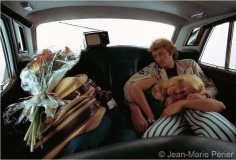 Johnny Hallyday and Sylvie Vartan, Paris, March 1971, C-Print