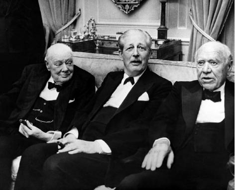Sir Winston Churchill, Prime Minister Harold Macmillan, Lord Beaverbrook, London, England, May 25, 1963, 17 x 22 Archival Pigment Print, Edition 35
