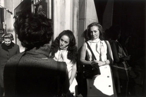 """(Three Women, Two with White Scarves), New York, """"Women are Beautiful,"""" 1967, 11 x 14 Silver Gelatin Photograph"""
