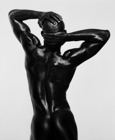 Djimon Three Quarter Nude, Back View, Hollywood, 1989, 24 x 20 Inches, Platinum Photograph, Edition of 25