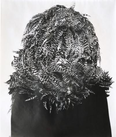 William Claxton Peggy Moffitt in Rudi, Gernreich's Feathered Hat, '68 Collection, 1967