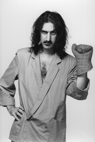 Frank Zappa with glove, Los Angeles, 1984, Silver Gelatin Photograph